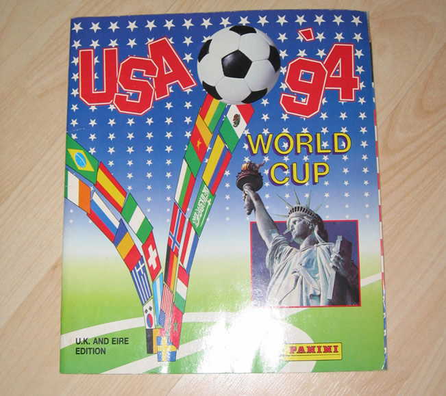 Panini World Cup Sticker Albums U.S.A 1994