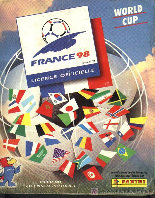 Panini World Cup Sticker Albums France 1998