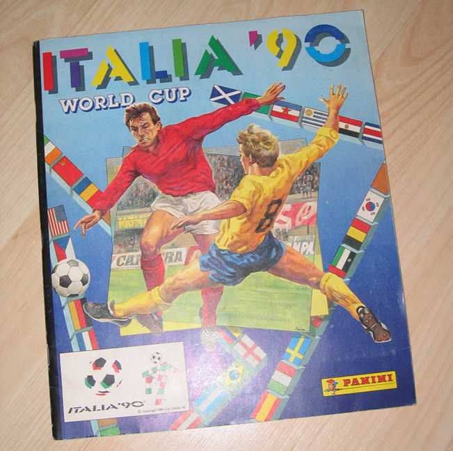 Panini World Cup Sticker Albums Italy 1990
