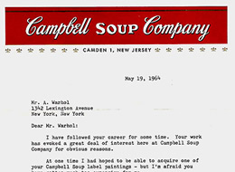 Campbell's letter to Andy Warhol on The Import